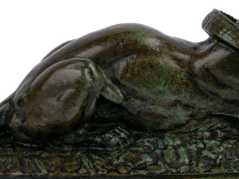 "Bronze Sculpture ""Tiger Devouring a Gavial"" after Antoine-Louis Barye For Sale 8"