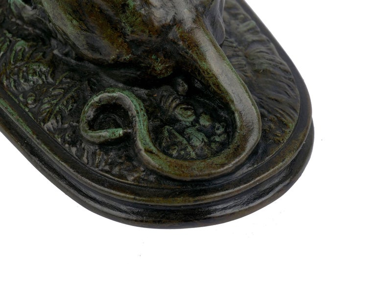 "Bronze Sculpture ""Tiger Devouring a Gavial"" after Antoine-Louis Barye For Sale 9"