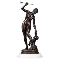 "Bronze Sculpture, ""Venus and The love"""
