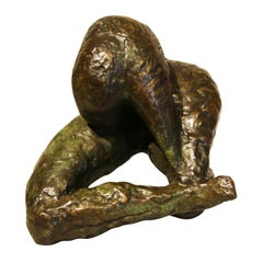 "Bronze Sculpture ""Woman at the Toilet"" by Mandron"