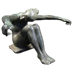 Bronze Sculpture, Woman Outstretched Arms