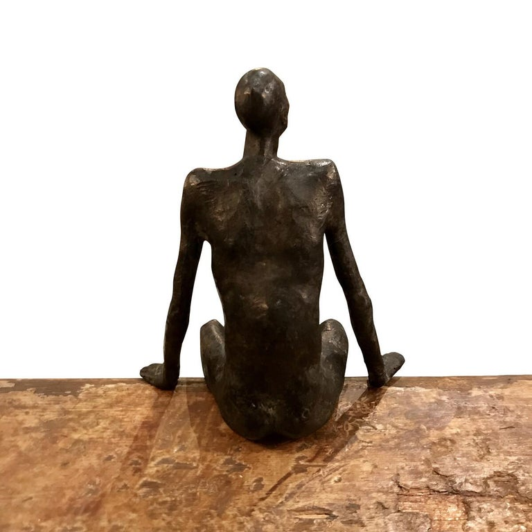 Bronze Seated Man Sculpture, Contemporary, German In New Condition For Sale In New York, NY