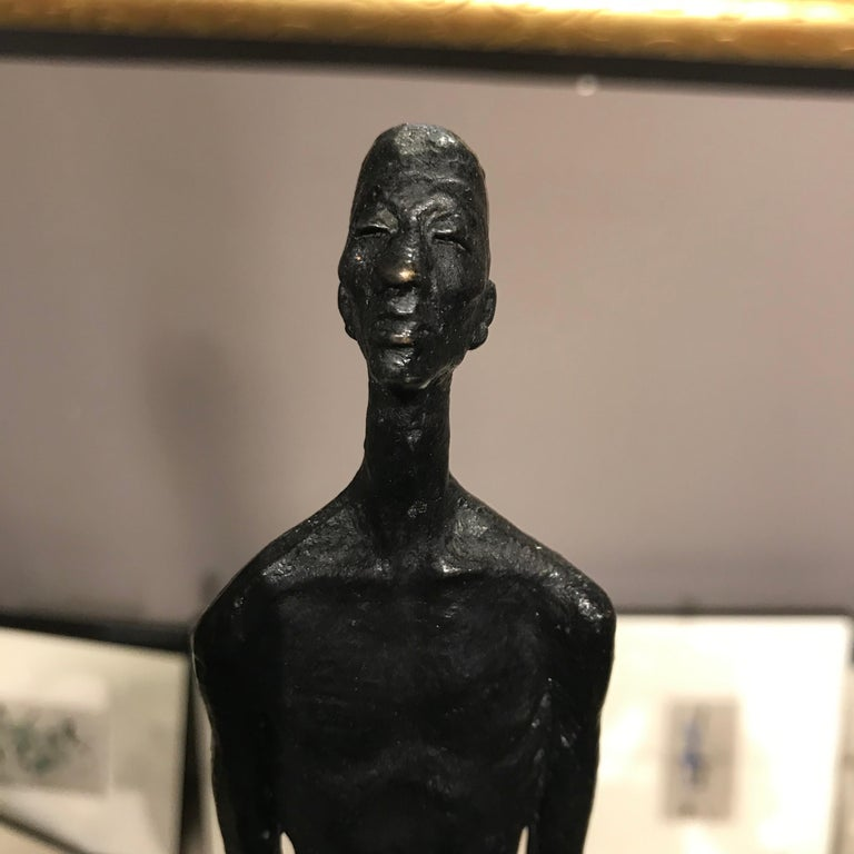 Bronze Seated Man Sculpture, Contemporary, German For Sale 1