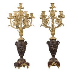 Bronze Seven-Light Candelabra After Clodion Cast, Suse Frères French circa 1890