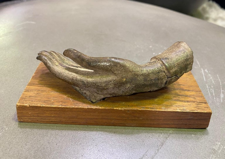Bronze Siamese Asian Buddha Antiquity Hand Sculpture, 15th-16th Century For Sale 4