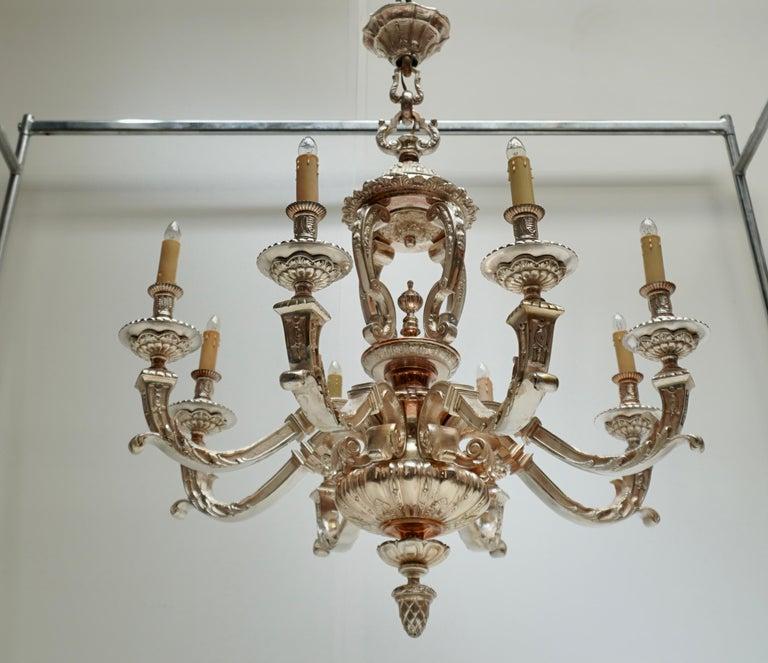 Bronze Silver Plated Mazarin Chandelier For Sale 6