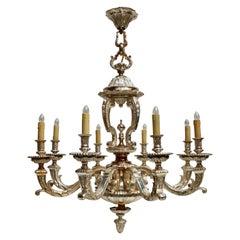 Bronze Silver Plated Mazarin Chandelier