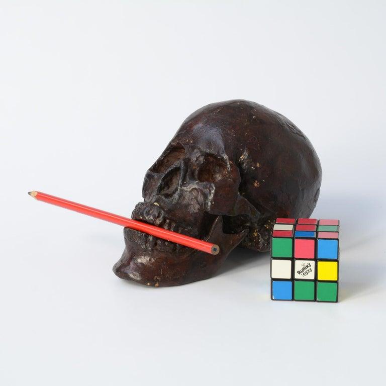 Bronze Skull Sculpture For Sale 4