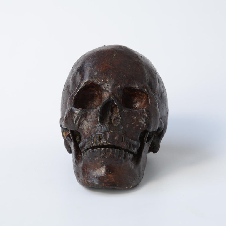 Bronze Skull Sculpture In Good Condition For Sale In Vlimmeren, BE