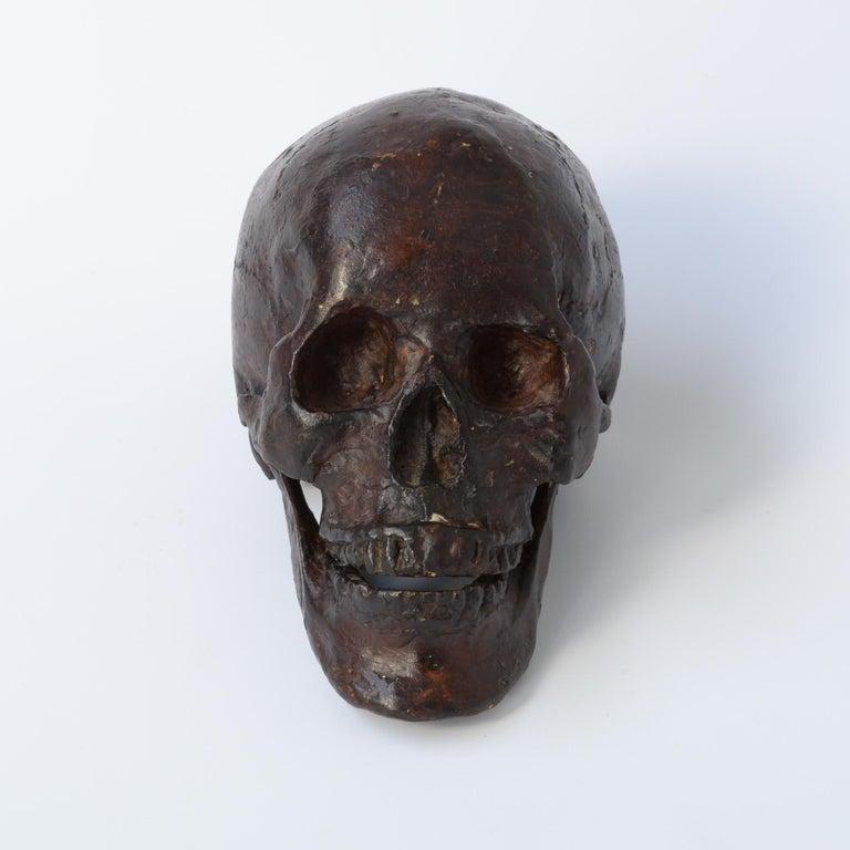 Late 20th Century Bronze Skull Sculpture For Sale