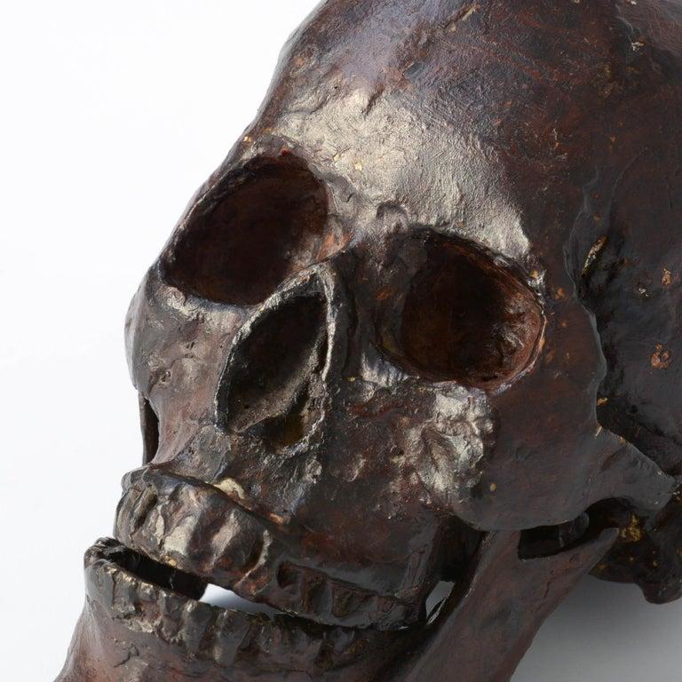 Bronze Skull Sculpture For Sale 1