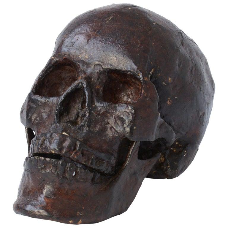 Bronze Skull Sculpture For Sale