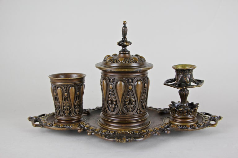 Bronze Smoking Set Marked, Germany, circa 1880 For Sale 8