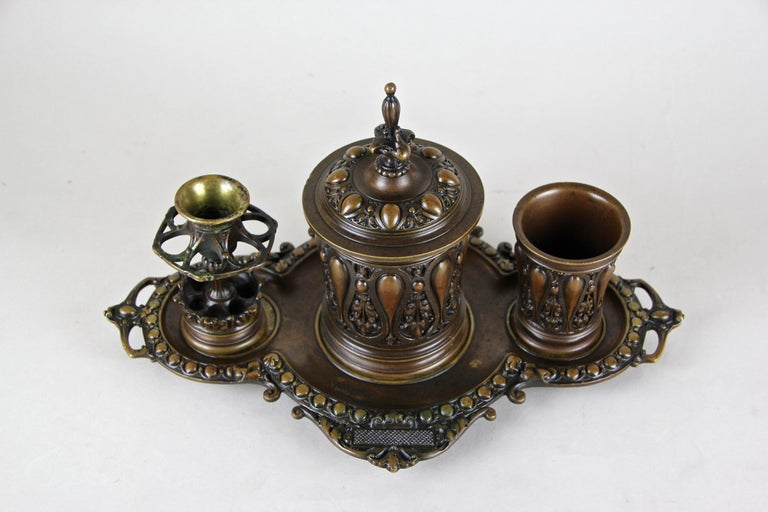 Bronze Smoking Set Marked, Germany, circa 1880 In Good Condition For Sale In Lichtenberg, AT