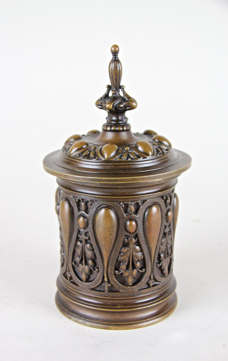 Bronze Smoking Set Marked, Germany, circa 1880 For Sale 3