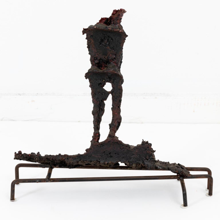 Brutalist Bronze Spill Cast Sculpture For Sale