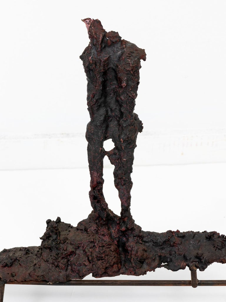 American Bronze Spill Cast Sculpture For Sale