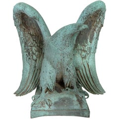 Bronze Spreadwing Eagle by Jakob Otto Schweizer, 1863-1955