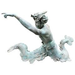 Bronze Statue Center Piece Fountain Decorative Garden Ornament Sculpture Melrose