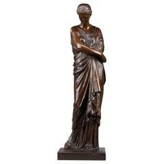 Bronze Statue L'Espérance déçue After Auguste-Marie Barreau
