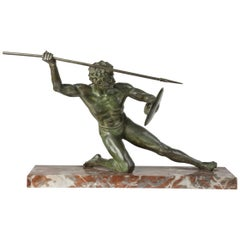 Bronze Statue of a Gladiator, by Cipriani, France, Early 20th Century