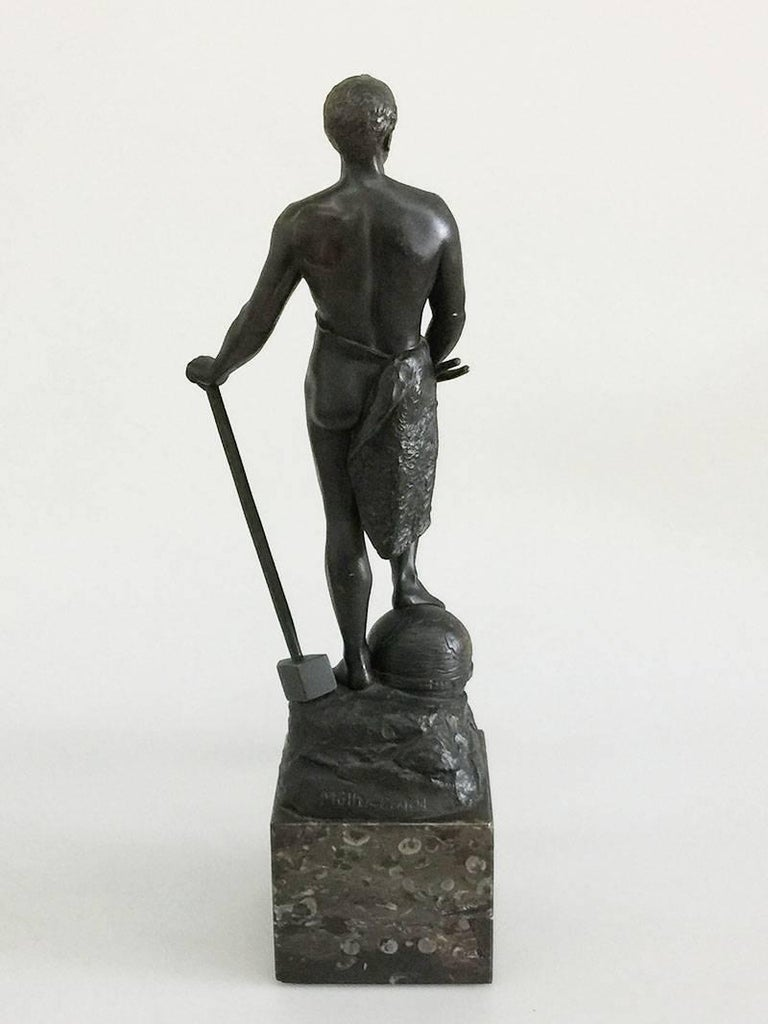 German Bronze Statue of Adolf Muller-Crefeld For Sale