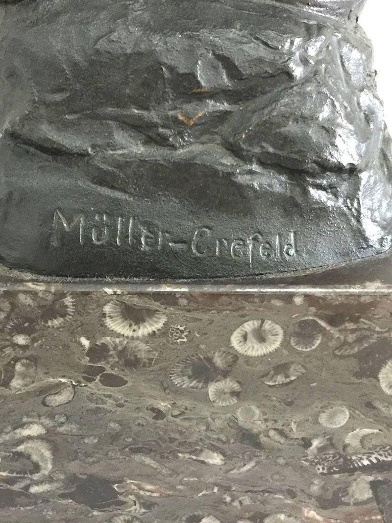 Bronze Statue of Adolf Muller-Crefeld In Good Condition For Sale In Delft, NL