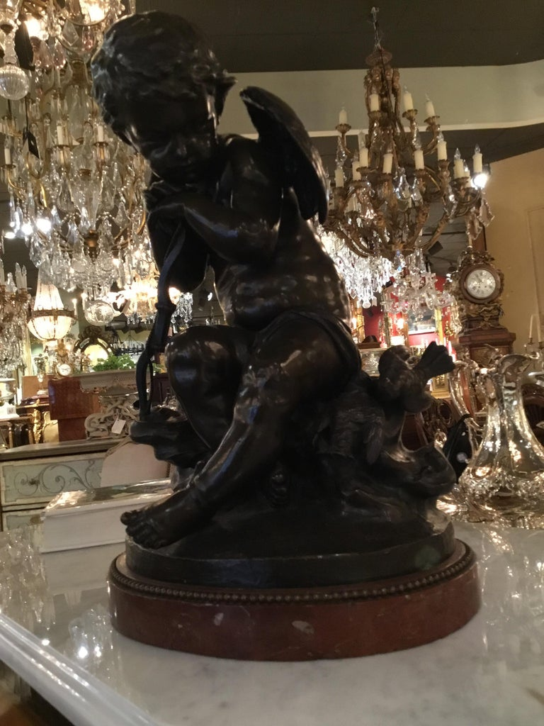 Bronze Statue of an Angel by Pigalle For Sale 1