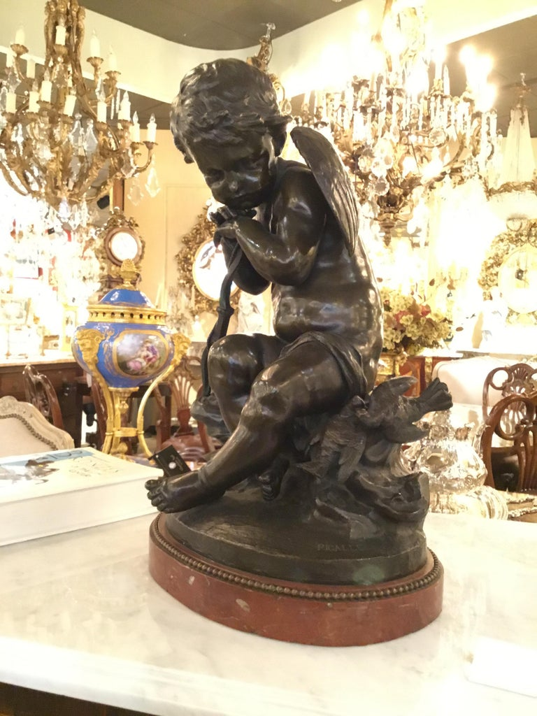 Bronze Statue of an Angel by Pigalle For Sale 2
