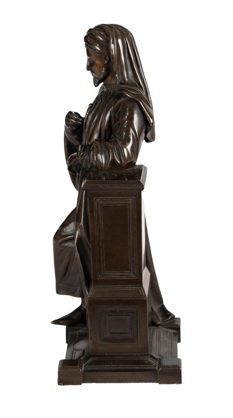 Cast Bronze Statue of Geoffrey Chaucer For Sale