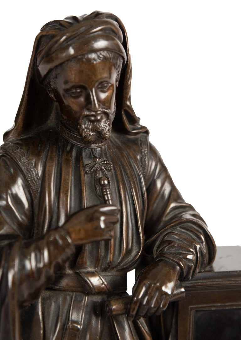 Bronze Statue of Geoffrey Chaucer In Good Condition For Sale In Salt Lake City, UT