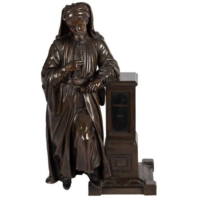 Bronze Statue of Geoffrey Chaucer For Sale