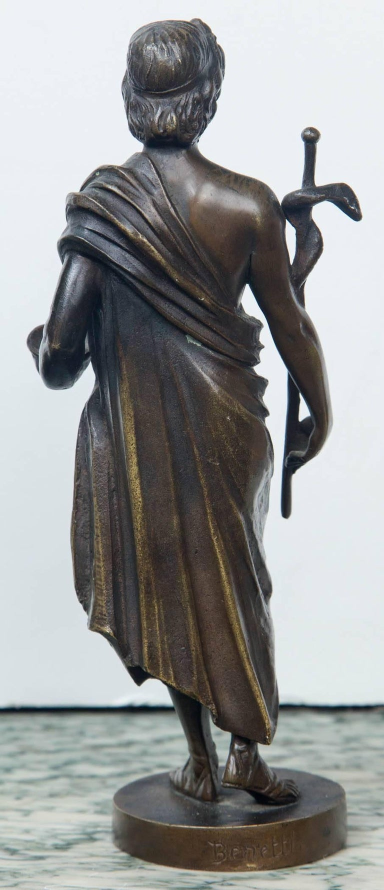 Italian Bronze Statue of Hippocrates For Sale