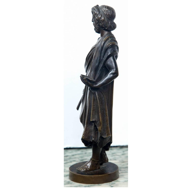Bronze Statue of Hippocrates In Excellent Condition For Sale In Woodbury, CT