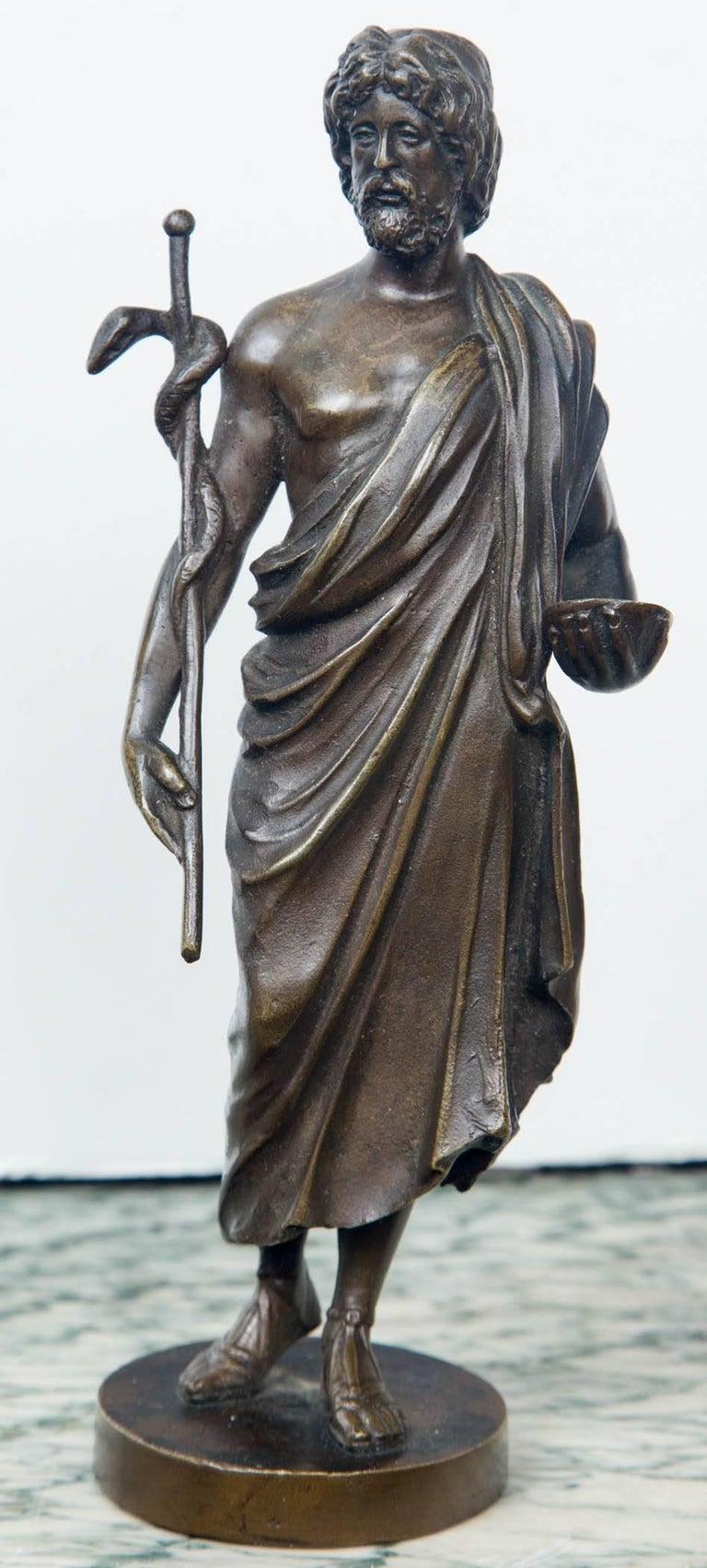 19th Century Bronze Statue of Hippocrates For Sale