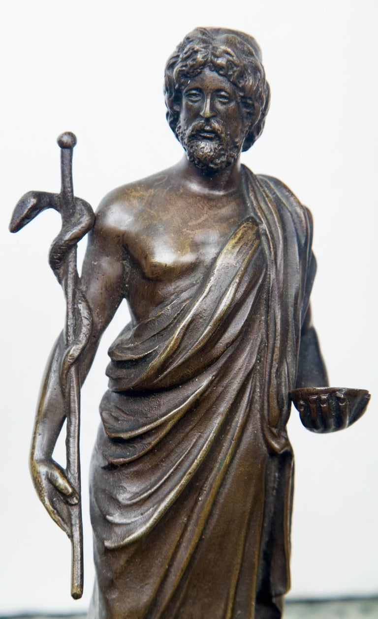 Bronze Statue of Hippocrates For Sale 1