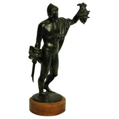 Bronze Statue of Perseus Holding the Medusa's Head