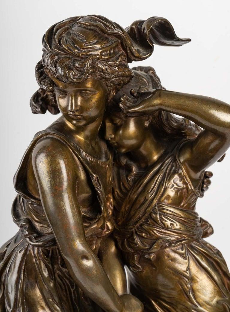 Bronze Statue Signed MOREAU, 19th Century For Sale 1