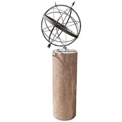 Bronze Sundial with Granite Column