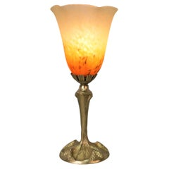 Bronze Table Lamp by George Leleu
