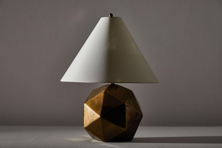 American Bronze Table Lamp For Sale