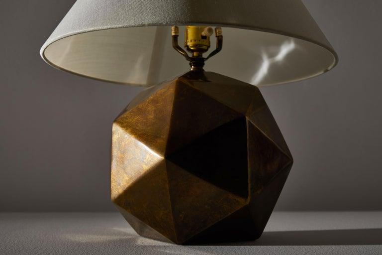 Late 20th Century Bronze Table Lamp For Sale