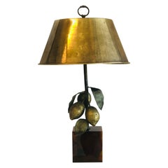 Bronze Table Lamp with Lemons, 1980s
