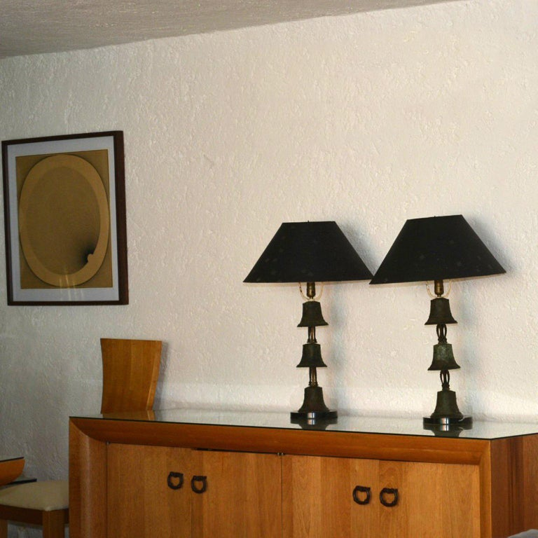 Bronze Table Lamps In Good Condition For Sale In National City, CA