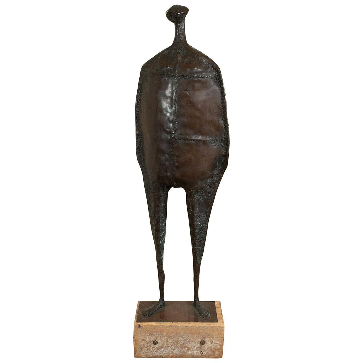 Bronze Tall Figural Sculpture