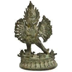 Bronze Tibetan Couple Statue Vajrasattva Yab Yum