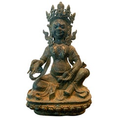 Bronze Tibetan Jambhala God of Wealth Statue