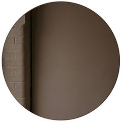 "Bronze Tinted Orbis Round Mirror Frameless - Dia. 40cm / 15.8"""