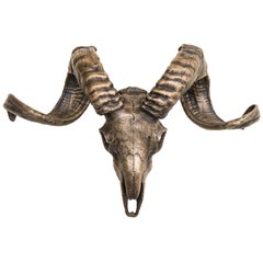 Decorative Bronze Tuscan Sheep Skull for wall mount or table accent