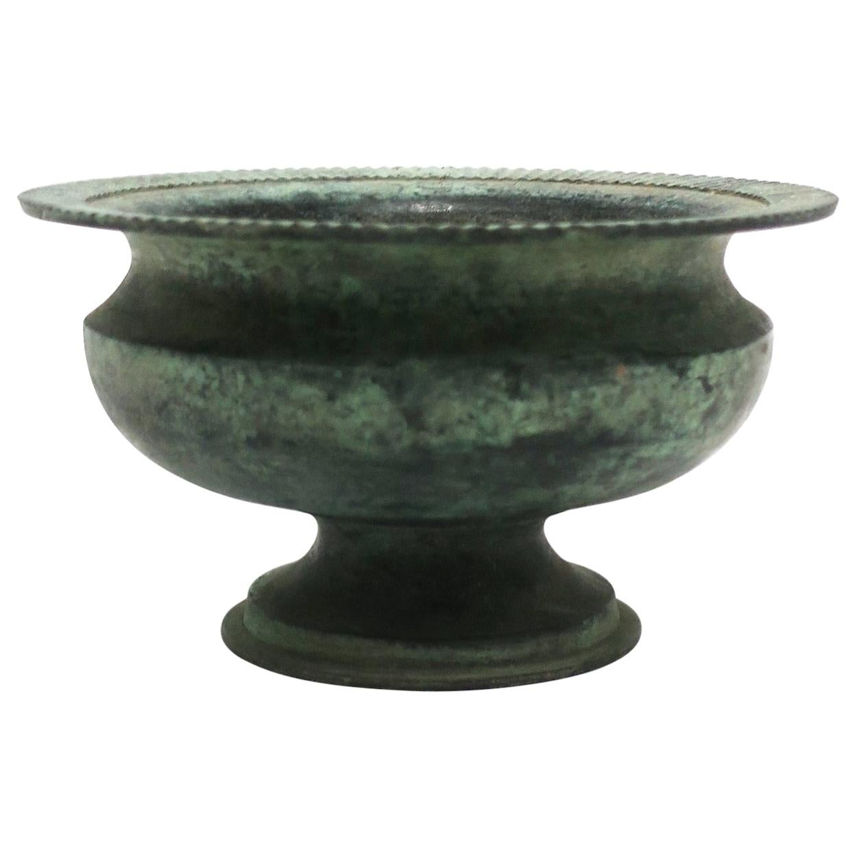 Bronze Urn Plant or Flower Pot Holder Cachepot Jardinière